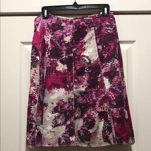 Ann Taylor A-Line Multicolor Skirt